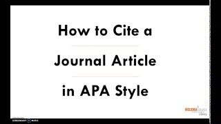 How to Cite a Paper in APA Style - EssayHub